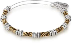 Alex and Ani Quill Two Tone Beaded Bangle