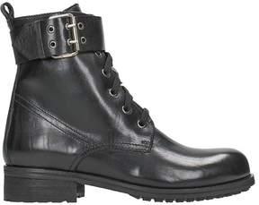 Julie Dee Black Combact Boots