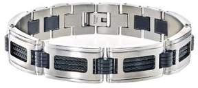 Armani Exchange Jewelry Mens Bracelet in Stainless Steel -Black