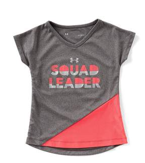 Under Armour Little Girls 2T-6X Short-Sleeve Squad Leader Tee