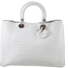 Christian Dior Crocodile Large Diorissimo Bag