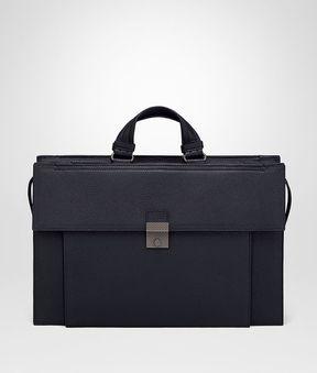 Bottega Veneta New Dark Navy Cervo Briefcase