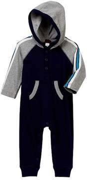 Tea Collection Ewan Hoodie Romper (Baby Boys)