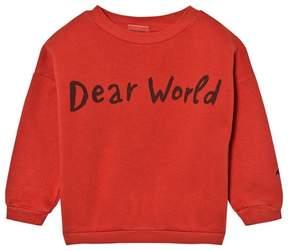 Bobo Choses Red Dear World Sweatshirt