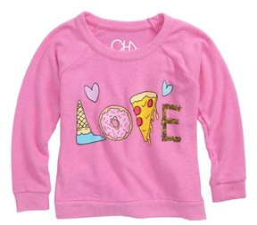 Chaser Toddler Girl's Yummy Love Love Sweatshirt