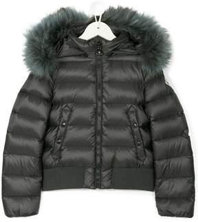 Moncler fur hood padded jacket