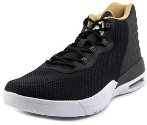 Jordan Academy Youth Round Toe Leather Black Basketball Shoe.