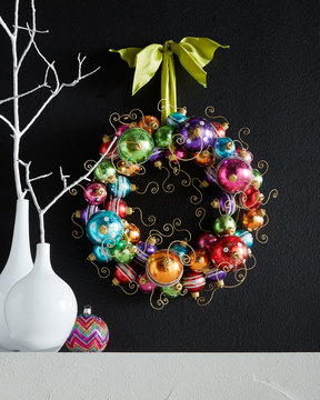Unique holiday wreaths popsugar home - Awesome christmas wreath with homemade style ...