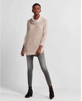 Express cowl neck extreme circle hem sweater