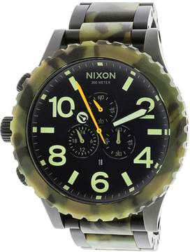 Nixon Men's 51-30 Chrono A0831428 Black Stainless-Steel Japanese Quartz Fashion Watch