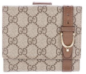 Gucci GG Supreme French Wallet - BROWN - STYLE