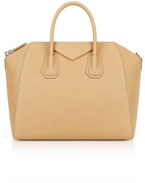 Givenchy Light Beige Leather Medium Antigona Tote Bag