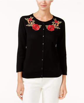 August Silk Embroidered Cardigan