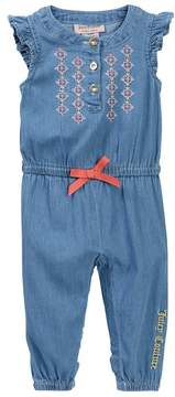 Juicy Couture Lightweight Denim Embroidered Jumpsuit (Baby Girls 3-9M)