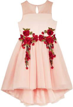 Nanette Lepore Rose Applique Party Dress, Big Girls (7-16)