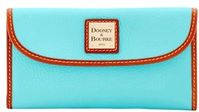 Dooney & Bourke Pebble Grain Continental Clutch Wallet - LIGHT BLUE - STYLE