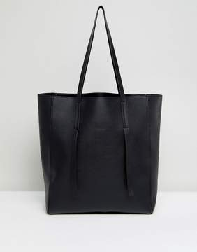 ASOS Unlined Tab Detail Shopper Bag