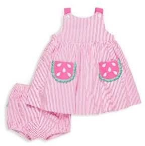 Florence Eiseman Baby Girl's Two-Piece Striped Cotton Dress and Bloomers Set