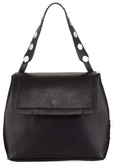 French Connection Celia Large Smooth Studded Flap Bag