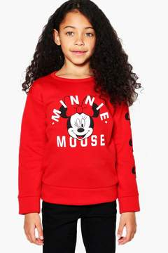boohoo Girls Disney Minnie Mouse Sweat