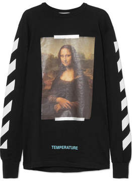 Off-White – Printed Cotton Top
