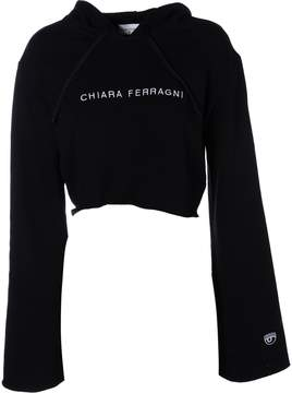 Chiara Ferragni Cropped Embroidered Logo Hoodie