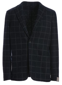 Altea Men's Blue Polyester Blazer.
