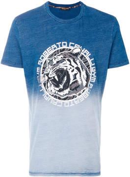 Roberto Cavalli logo print gradient T-shirt