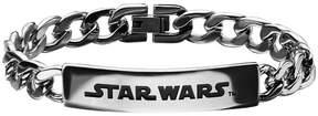 Star Wars FINE JEWELRY Mens Stainless Steel Logo ID Bracelet
