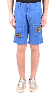 Aeronautica Militare Men's Blue Cotton Shorts.