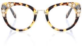 Miu Miu Embellished cat-eye glasses
