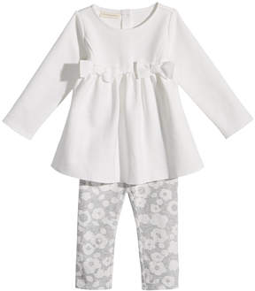 First Impressions 2-Pc. Bows Tunic & Dot-Print Leggings Set, Baby Girls (0-24 months), Created for Macy's