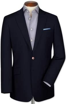 Charles Tyrwhitt Slim Fit Navy Wool Wool Blazer Size 34
