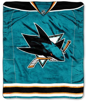 Northwest Company San Jose Sharks 50x60in Plush Throw Jersey