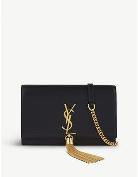Saint Laurent Monogram kate leather clutch - BLACK - STYLE