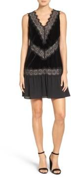 Chelsea28 Women's Velvet & Lace Dress