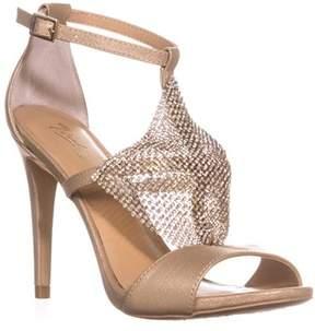 Thalia Sodi Ts35 Drina Embellished T-strap Dress Sandals, Champagne.