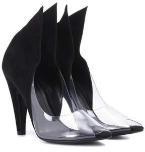 Calvin Klein Kahlo suede peep-toe pumps