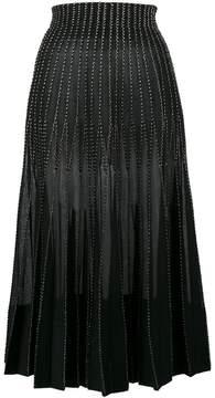 Alexander McQueen Metallic embroidered silk maxi skirt