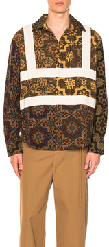 Craig Green Block Print Shirt in Multi in Brown,Abstract.