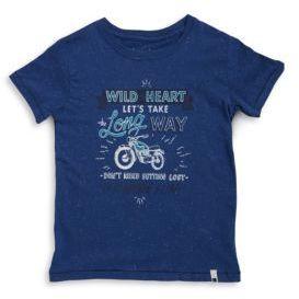 Lucky Brand Little Boy's Wild Heart Text Graphic Tee