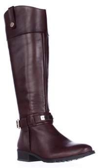 INC International Concepts I35 Fabbaa Wide Calf Knee High Riding Boots, Cappuccino.