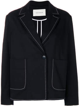 Cédric Charlier contrast piped trim blazer