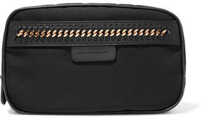 Stella McCartney The Falabella Chain And Faux Leather-trimmed Cosmetics Case - Black