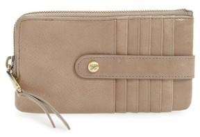 Hobo Women's Flash Calfskin Leather Card Case - Grey