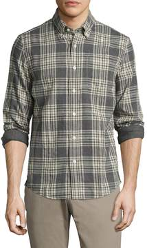 Jack Spade Men's Palmer Heathered Double Face Plaid Sportshirt