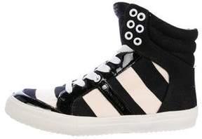 Sonia Rykiel Canvas High-Top Sneakers