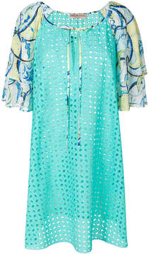 Emilio Pucci printed broderie anglaise dress