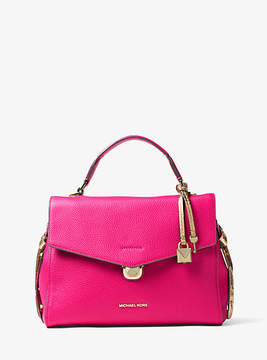 Michael Kors Bristol Leather Satchel - PINK - STYLE