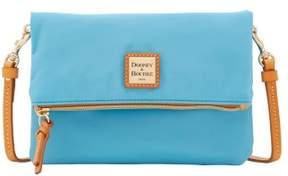 Dooney & Bourke Miramar Foldover Zip Crossbody Shoulder Bag - LIGHT BLUE - STYLE